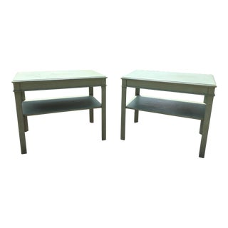 Painted Wooden Side Tables - A Pair
