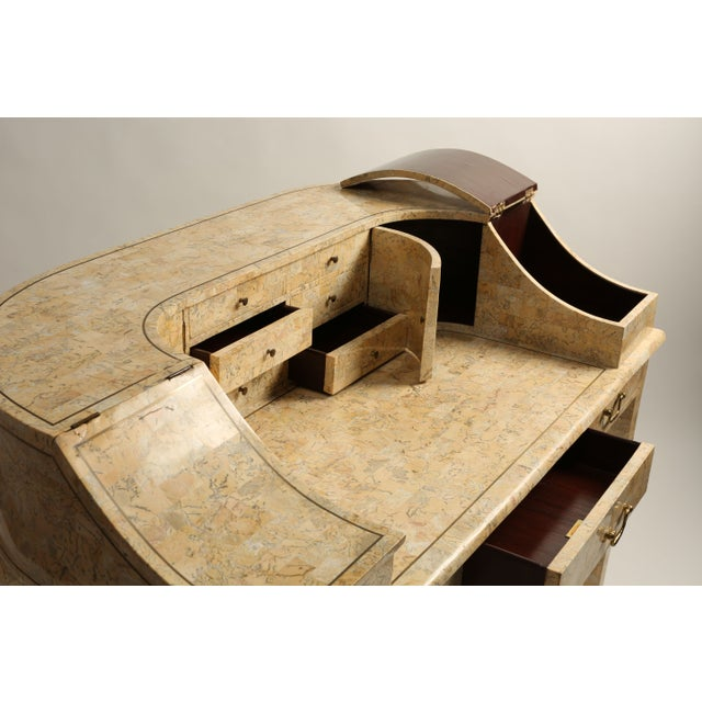 Image of Antique Peach Marble Desk