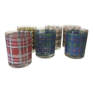 Cera Tartan Themed Cocktail Glasses - Set of 6
