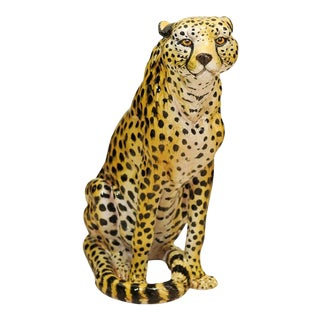 Jaw-Dropping Vintage Italian Terracotta Cheetah
