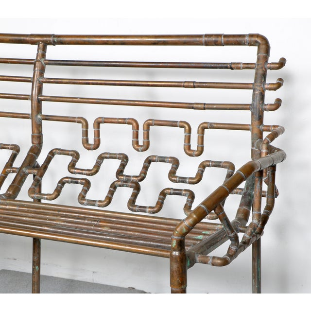 Modern Copper Pipe Bench - Image 8 of 11
