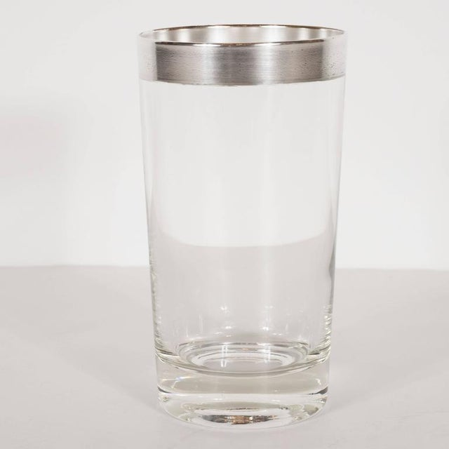 Mid-Century Sterling Silver Overlaid Highball Glasses by Dorothy Thorpe - Image 2 of 6