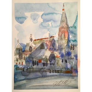 """First Presbyterian, Portland Or."" Watercolor Painting"