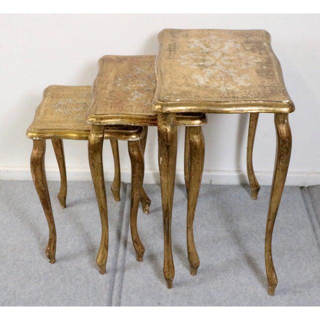 Italian Florentine Nesting Tables – Set of 3 - Image 5 of 7