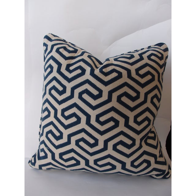 Navy Geometric Schumacher Pillow - Image 5 of 5
