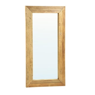 Rustic Full-Length Wooden Mirror
