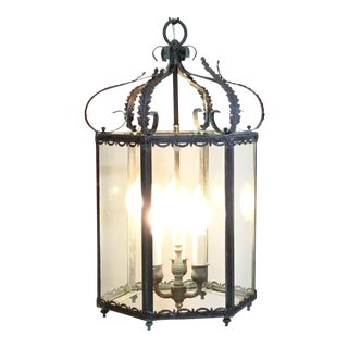 Hexagonal Hanging Brass Lantern