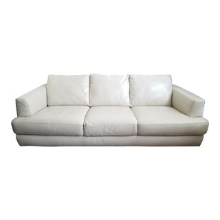 Natuzzi Cream Leather Sofa