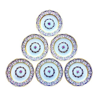 Six Sèvres Porcelain Dinner Plates