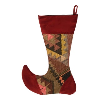 Large Kilim Christmas Stocking | Fir