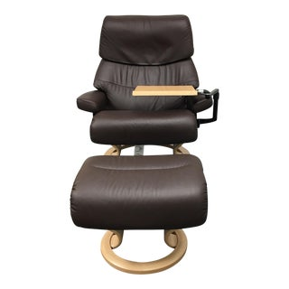 Ekornes Reclining Chair & Ottoman Set