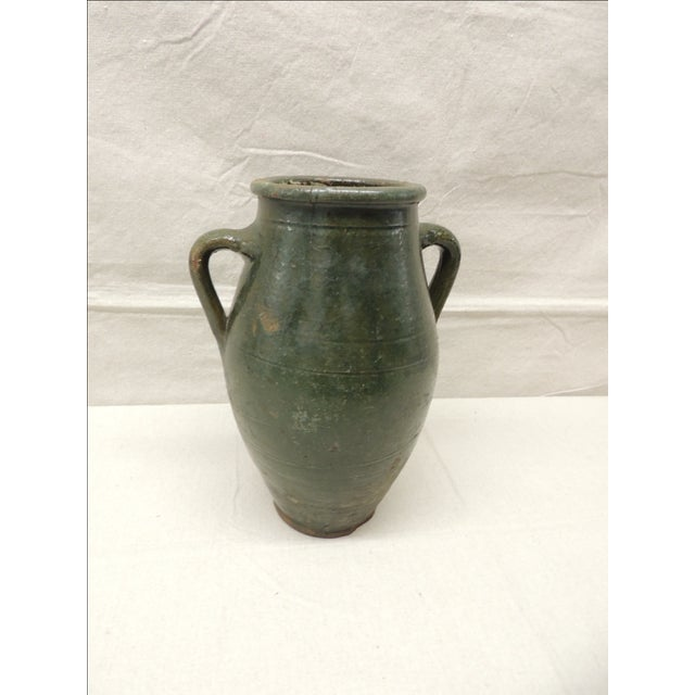 Antique French Green Terracotta Confit Pot - Image 2 of 4