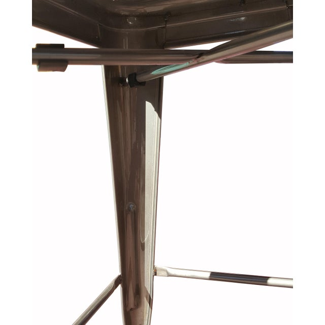 """Industrial Tolix """"Marais"""" Style Counter Bar Stools - A Pair - Image 4 of 6"""