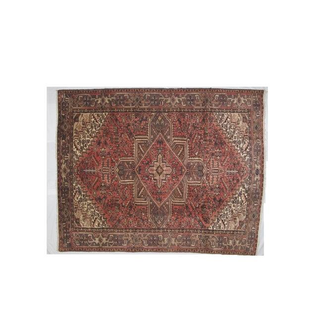 "Leon Banilivi Vintage Persian Heriz Brown Rug - 9'1"" X 7'3"" - Image 2 of 6"