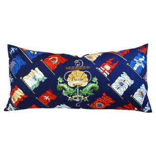 Custom Hermes Philippe Ledo Silk Scarf Pillow