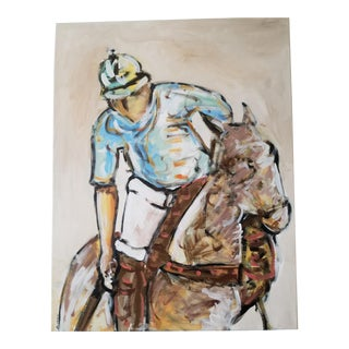 Polo Match Acrylic on Canvas Painting