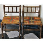 Image of Antique French Corner Chairs - A Pair