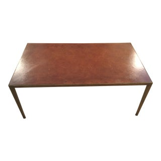 Julian Chichester Leather Wrapped Coffee Table