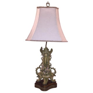 Antique French Style Porcelain Lamp