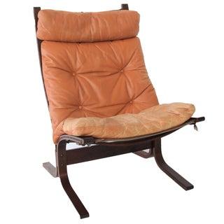 Mid-Century Westnofa Siesta Chair in Cognac
