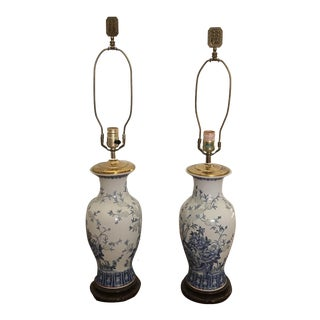 Vintage Chinese Table Lamps - A Pair