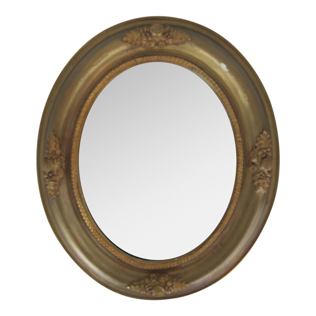Vintage Fruit & Flower Accent Gold Mirror - Image 1 of 10