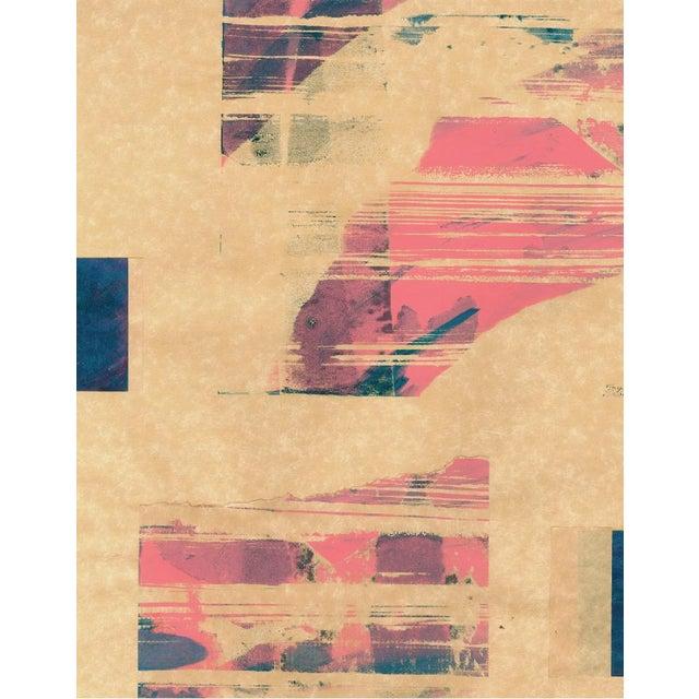 Modern 'Red Meets Blue #18' Framed Print - Image 2 of 4