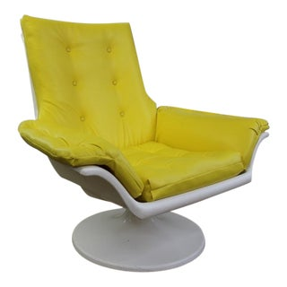 1970s Space Age Yellow Vinyl Chair
