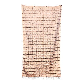 Sequined Moroccan Handira Wedding Blanket - 4′1″ × 7′1″