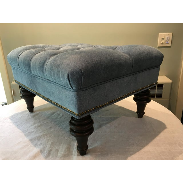 mitchell gold bob williams chesterfield ottoman chairish. Black Bedroom Furniture Sets. Home Design Ideas