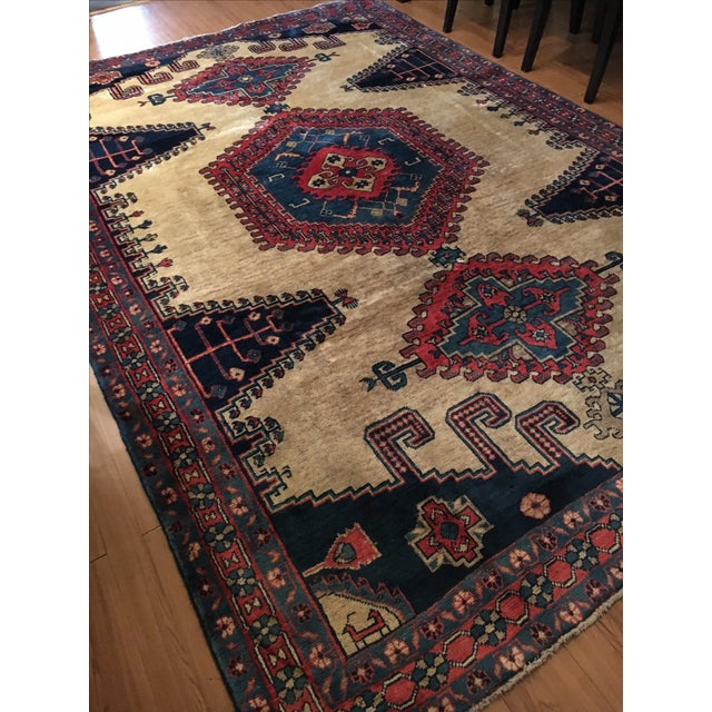 Antique Hand Knotted Persian Rug - 10 X 7 - Image 6 of 11