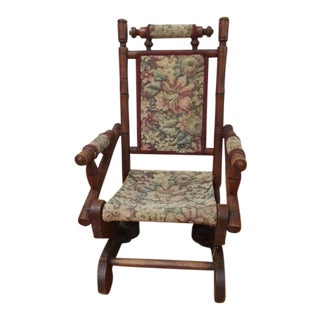 Antique Victorian Child Rocking Chair