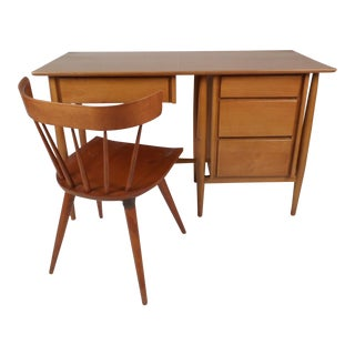 Vintage Modern Desk and Chair by Paul McCobb