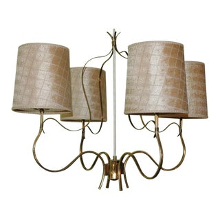 Paavo Tynell Four Arm Chandelier
