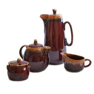 Vintage Hull Drip Glaze Tea & Coffee Set
