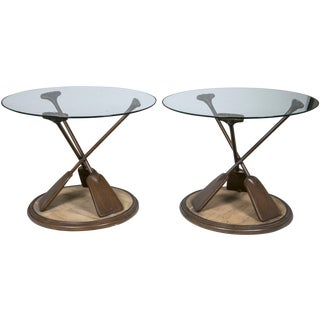 Paddle Base Occasional Tables - A Pair