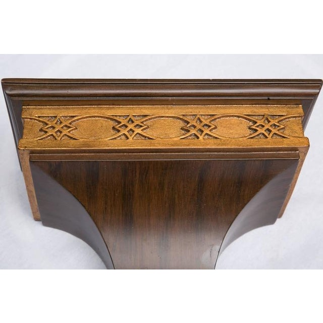 Image of Pair of Rosewood Grain Painted and Gilt Composition Brackets