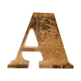 Gold Letter A