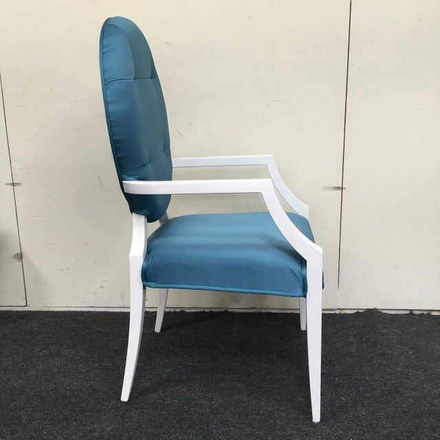 Modrest Versus Emma Fabric Turquoise Chair - Image 3 of 6