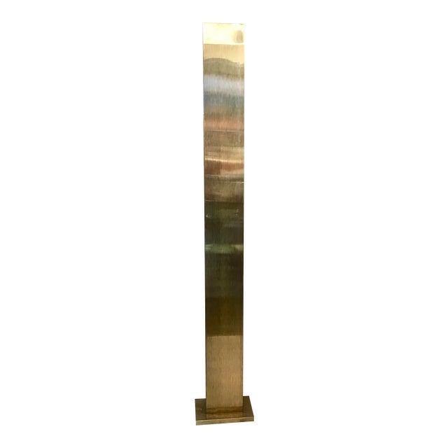 Casella mid century brushed brass floor lamp chairish for Casella brass floor lamp