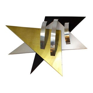 Abstract Star Wall Sculpture by Curtis Jere