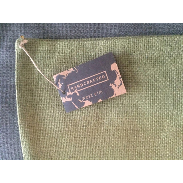 West Elm Green Tea Hand Loomed Silk Pillow Cover - Image 3 of 11