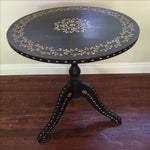 Image of Vintage Moroccan Style Bone Inlaid Low Table