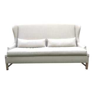 Verellen High Back Belgium Linen Sofa