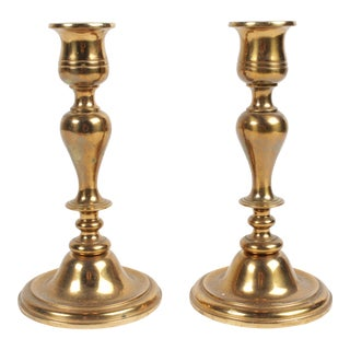 Vintage Swedish Copper Candlesticks - a Pair