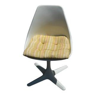 White Swivel Burke Chair