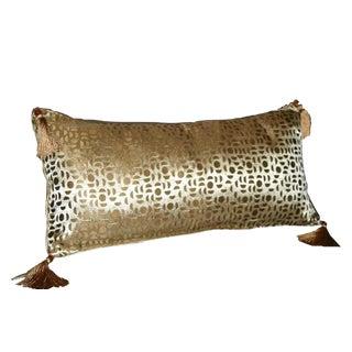 Gold Moon Silk Brocade Bolster Pillow