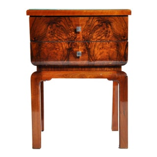 Art Deco Two-Drawer Side Table