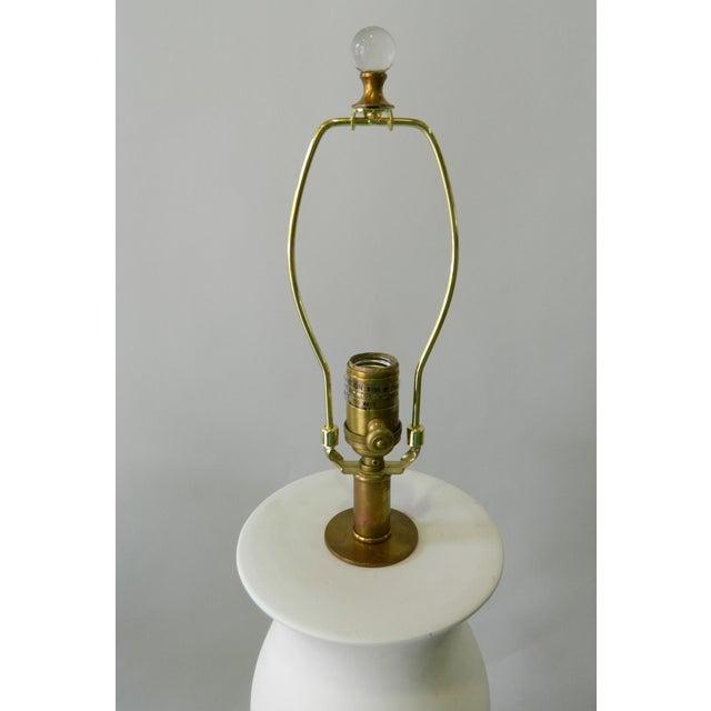 Double Ballister White Porcelain Table Lamp - Image 3 of 6