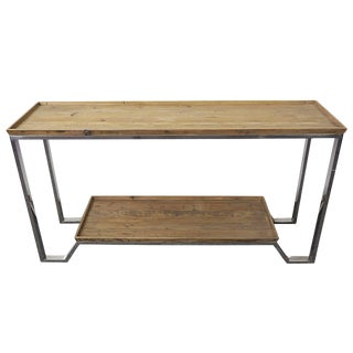 Sarreid LTD Stainless Steel Plank Console Table